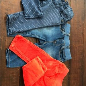 Baby Gap girls skinny jeans/cords size 6-12